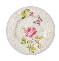 Dezertný tanier 22 cm / sivý Rose Cottage