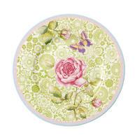 Dezertný tanier 22 cm / zelený Rose Cottage