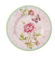 Dezertný tanier 22 cm / ružový Rose Cottage