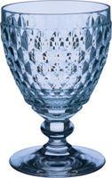 Modrý pohár na biele víno Boston Coloured