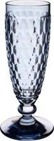 Modrý pohár na šampanské Boston Coloured