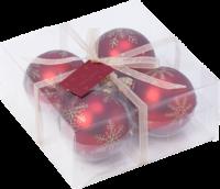 Vianočné červené gule, 4 ks Christmas Toys