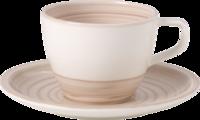 Kávová šálka 0,25 l s podšálkou Arte. Nature Beige