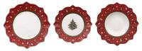 Vianočná obedová súprava, ČERV 18 ks Toy's Delight