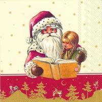 Servítky, Mikuláš číta, stredné Winter Specials