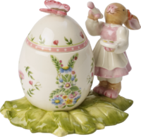 Dóza vajíčko, maľujúca zajačica Bunny Family