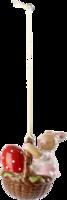Závesná ozdoba košík - zajačica 5,8 cm Bun. Family