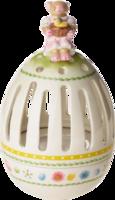 Svietnik vajíčko, zajačica s košíkom Bunny Family