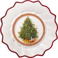 Veľká miska, stromček, 25 cm Christmas Glass Acc.