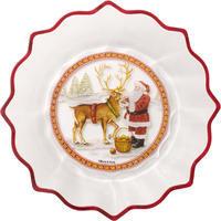 Veľká miska, Santa, 25 cm Christmas Glass Acc.