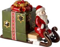 Svietnik, Santa na saniach, zelený Christmas Light