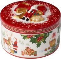 Dóza, okrúhly darček, Santa Christmas Toys
