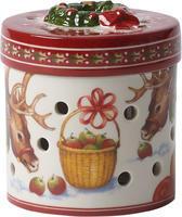 Svietnik, okrúhly darček 10 cm Christmas Toys