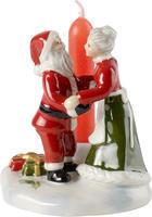 Svietnik Santa a jeho pani 8 cm North Pole Express