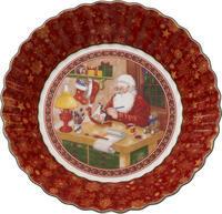 Veľká miska, Santa v dielni, 25 cm Toy's Fantasy