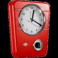 Kuchynské hodiny, červené Wesco