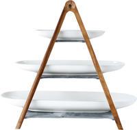 Drevený stojan s miskami, 4 ks Artesano Original