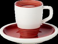 Espresso šálka 0,10 l s podšálkou Manufact. rouge
