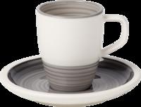 Espresso šálka 0,10 l s podšálkou Manufacture gris