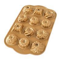 Forma na 12 mini báboviek, zlatá Nordic Ware