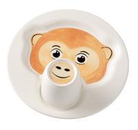 Detský tanier s hrnčekom, Opica Animal Friends
