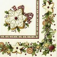 Servítky, Bakery Cookies, stredné Winter Specials
