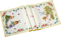 Bavlnená štóla, zajace 50 x 150 cm Spring Fantasy