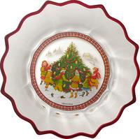 Veľká miska, deti, 25 cm Christmas Glass Access.