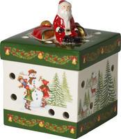 Svietnik, hranatý darček 9 cm Christmas Toys