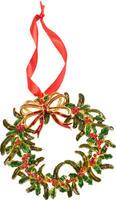 Závesný kovový veniec 12 cm Christmas Toys