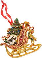 Závesné kovové sane 12 cm Christmas Toys
