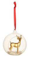 Závesná sklenená ozdoba, jeleň Christmas Toys