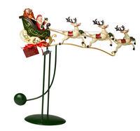 Kovová hojdačka, Santa na saniach Christmas Toys