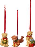 Závesné ozdoby, medvedíci, 3 ks Nostal. Ornaments