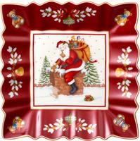 Štvorcová misa, Santa na streche, 23 cm Toy's Fan.