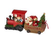 Vianočný vláčik s deťmi 29 x 8 cm Winter Bakery