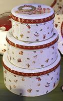 Kovové dózy na medovníky, 3 ks Winter Bakery