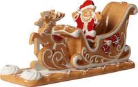 Svietnik, Santa na saniach 23 cm Winter Bakery De.
