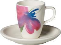 Espresso šálka 0,10 l s podšálkou Arte. Flower Art