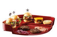 Tác na grilovanie hamburgerov / granátová EMH