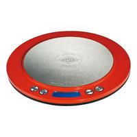 Digitálna kuchyňská váha, červená Wesco
