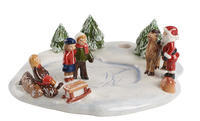 Svietnik, deti na ľade Mini Christmas Village