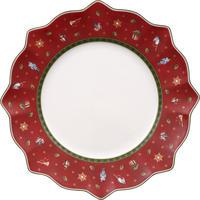 Červený plytký tanier 29 cm Toy's Delight