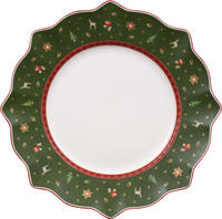 Zelený plytký tanier 29 cm Toy's Delight