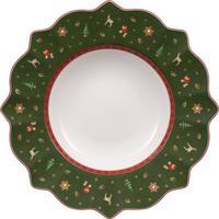 Zelený hlboký tanier 26 cm Toy's Delight