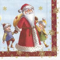 Servítky, Mikuláš s deťmi, stredné Winter Specials