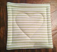 Ručne šitá obojstranná podložka 14 x 14 cm