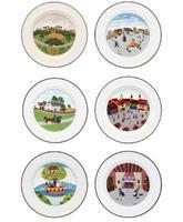 Set plytkých tanierov 6 ks Design Naif