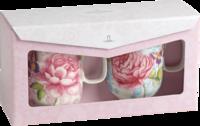 Set hrnčekov, ružový a modrý, 2 ks Rose Cottage