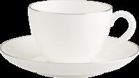 Kávová šálka 0,20 l s podšálkou Anmut Platin. No.1